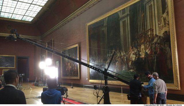 撮影方法をこだわり抜いたNHK・8K番組<br>自宅に居ながらルーブル美術館