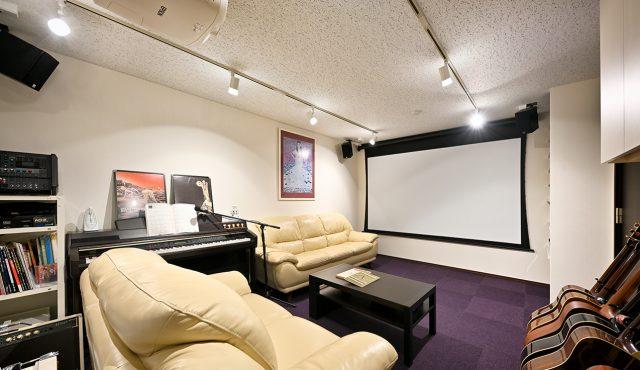 専用室シアターCASE3<br>楽器演奏とシアターを兼用!